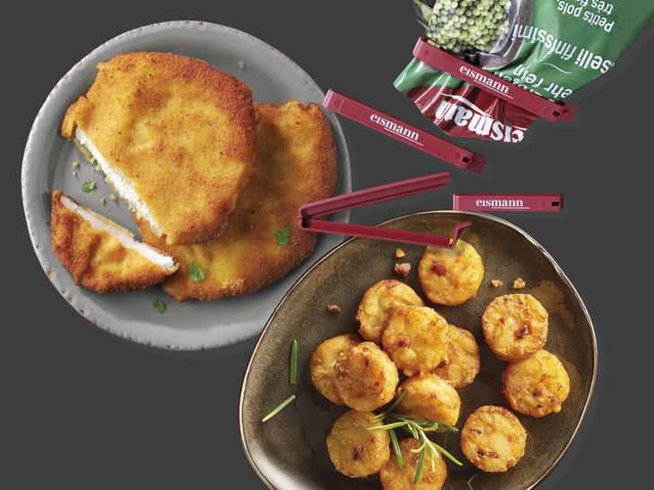 Spendenpaket: Wiener Schnitzel, Speckrösti-Taler & Clips