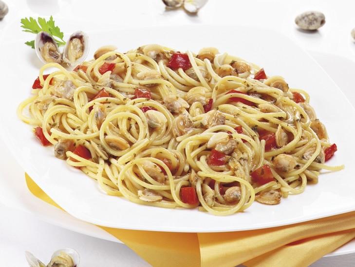 Spaghetti in Venusmuschel-Soße