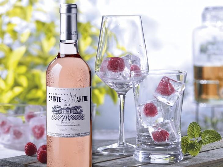 30735 Cinsault Rosé + 2815 Eiswürfel mit Himbeeren
