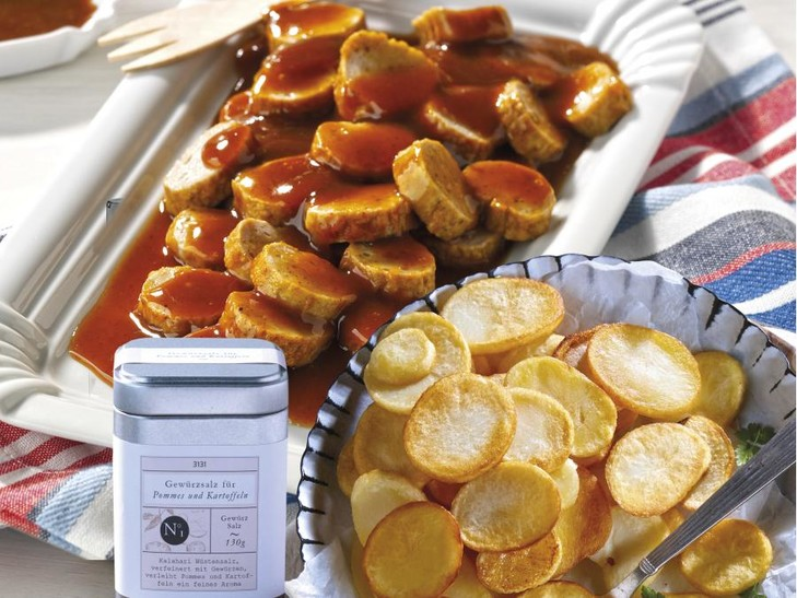7277 Currywurst + 4797 Kartoffelscheiben + 3131 Pommes Salz
