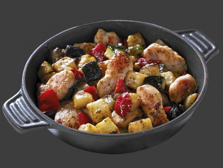 Hähnchen-Grillgemüse-Pfanne