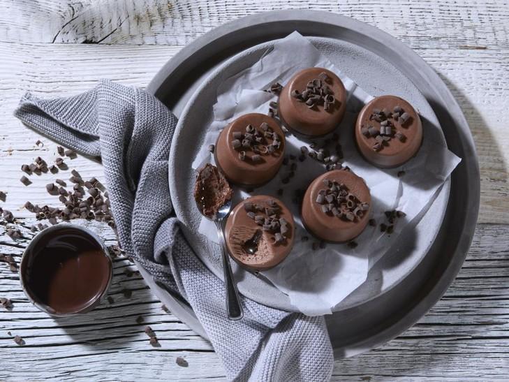 Schokoladen Eiscreme Dessert