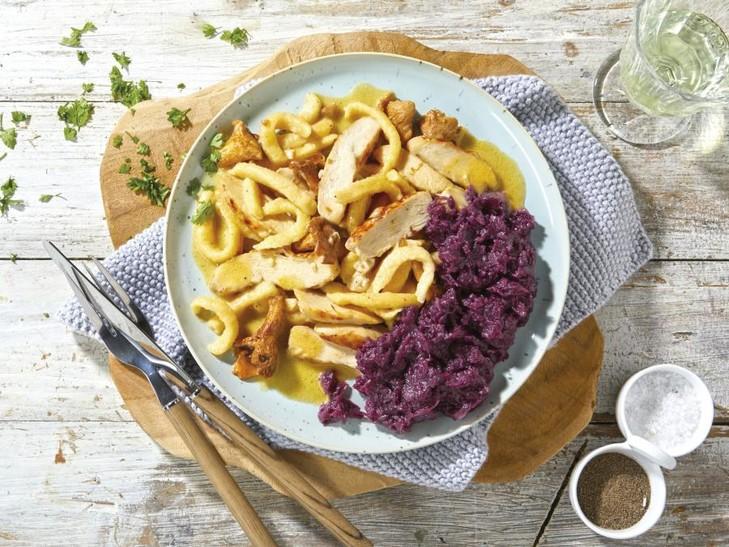 Feinschmecker-Gericht mit Maishähnchen