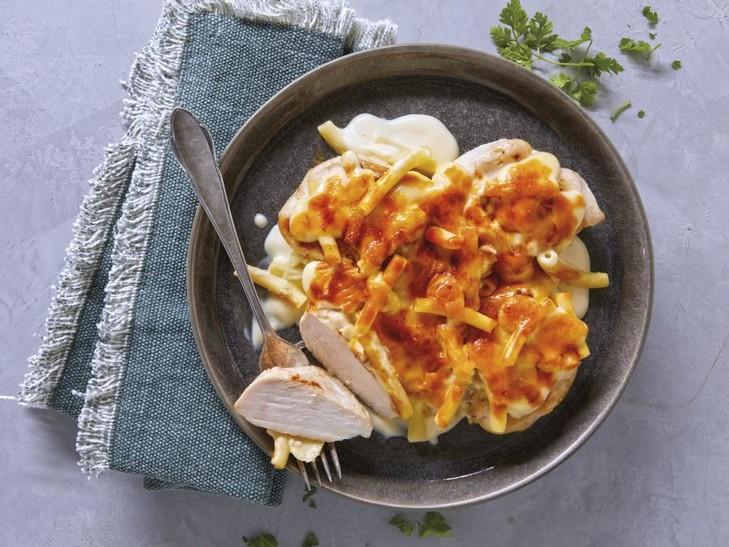 Hähnchen-Schlemmermenü Mac & Cheese
