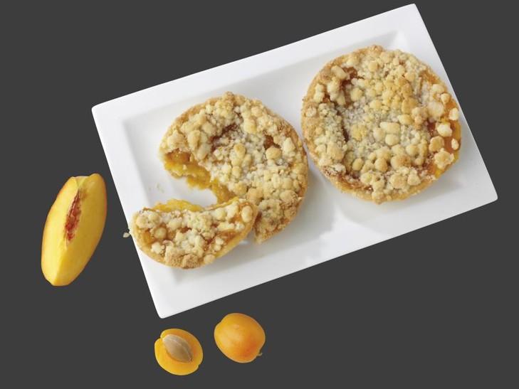 Aprikosen-Pfirsich-Streusel-Küchlein