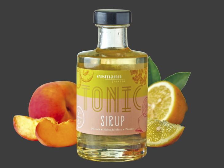 Tonic Sirup Pfirsich, Holunderblüte und Zitrone