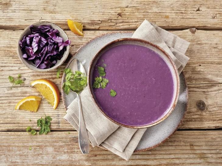 Rotkohl-Orangen Suppe