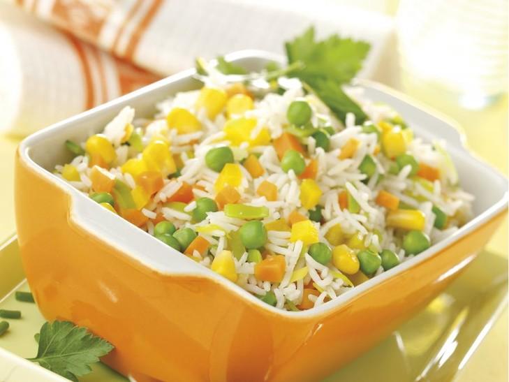Feine Reis-Gemüse-Mischung