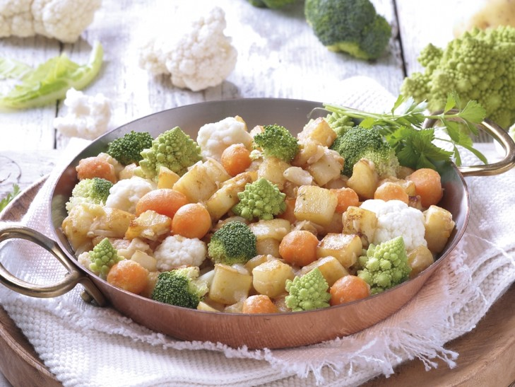 Gemüse-Kartoffelpfanne