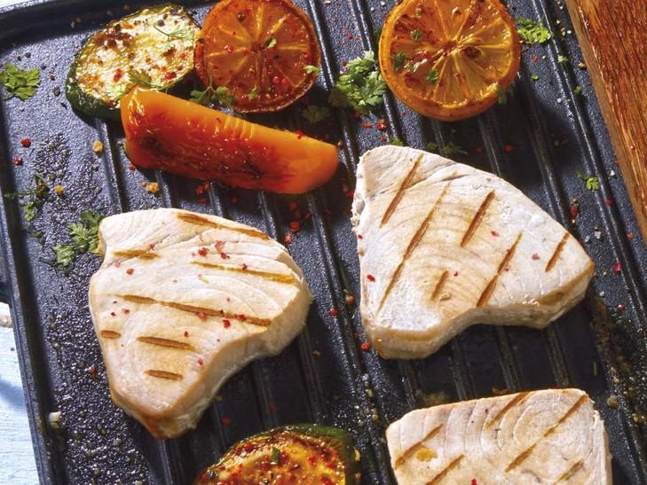 Weiße Thunfisch-Steaks