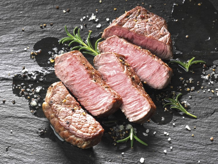 US Black Angus Sirloin Steak, mariniert