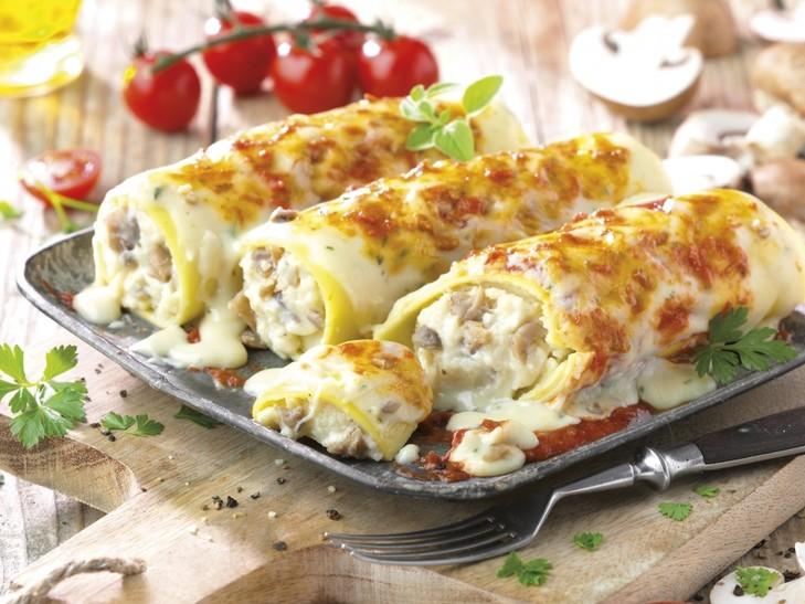 Cannelloni mit Pilzen