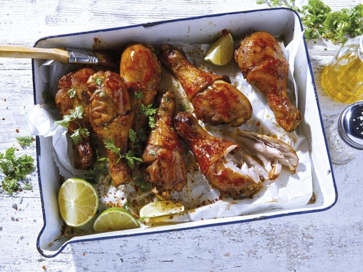Drumsticks in BBQ-Marinade