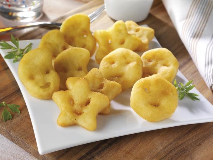 Fröhliche Kartoffelgesichter