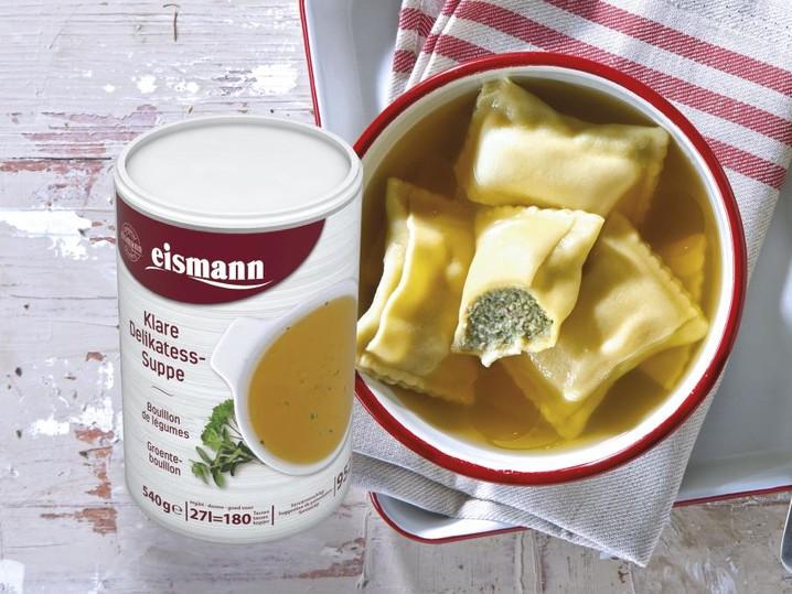 9060 Maultaschen + 9522 Klare Delikatess-Suppe