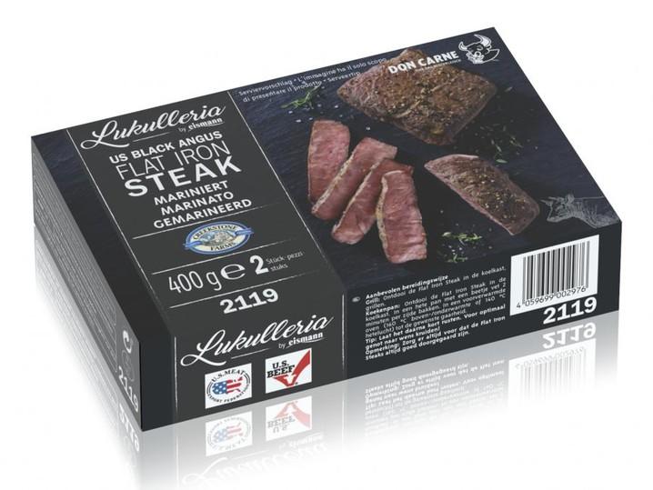 US Black Angus Flat Iron Steak, mariniert