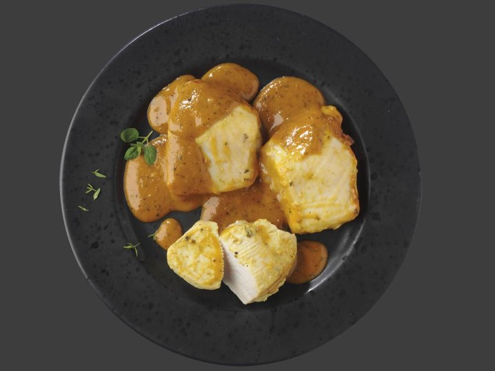 Hähnchengenuss in Feige Senf-Sauce