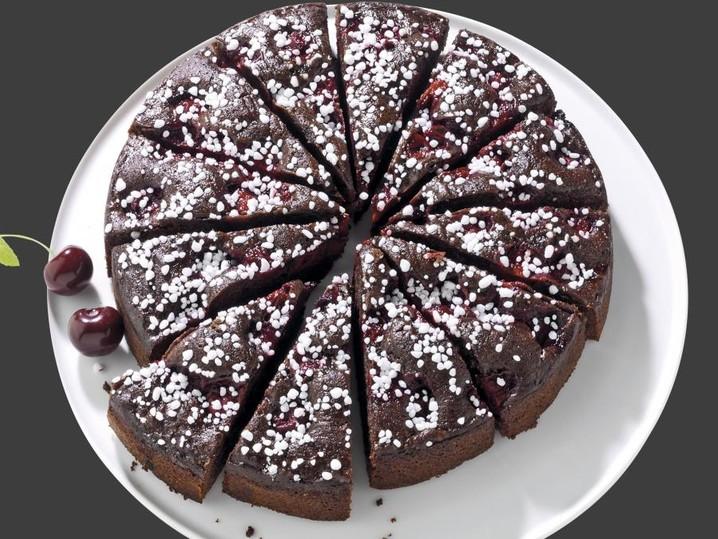 Schoko Kirsch Kuchen Kuchen Schnitten Torten Backwaren