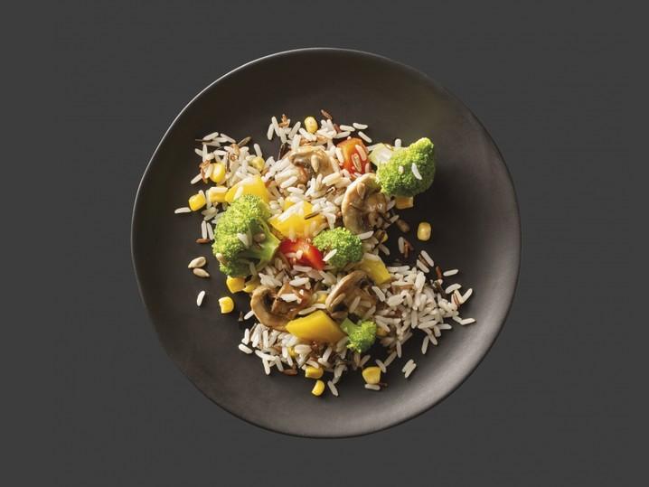 Gemüse-Mix mit Wildreis