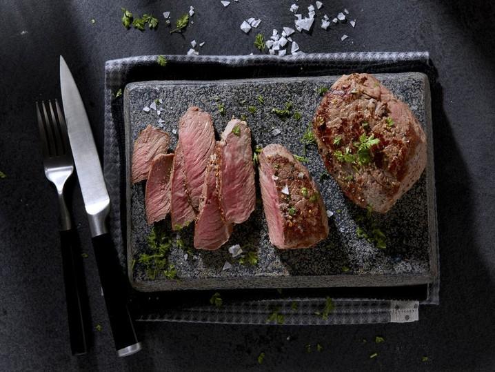 US Black Angus Sirloin Steak, mariniert