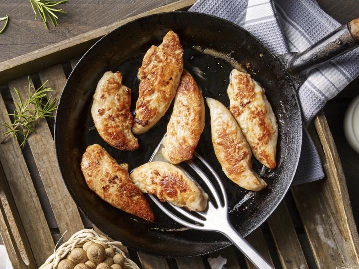 Gegarte Hähnchen-Filetspitzen
