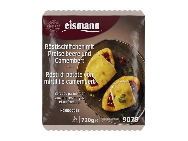 Röstischiffchen mit Preiselbeere und Camembert