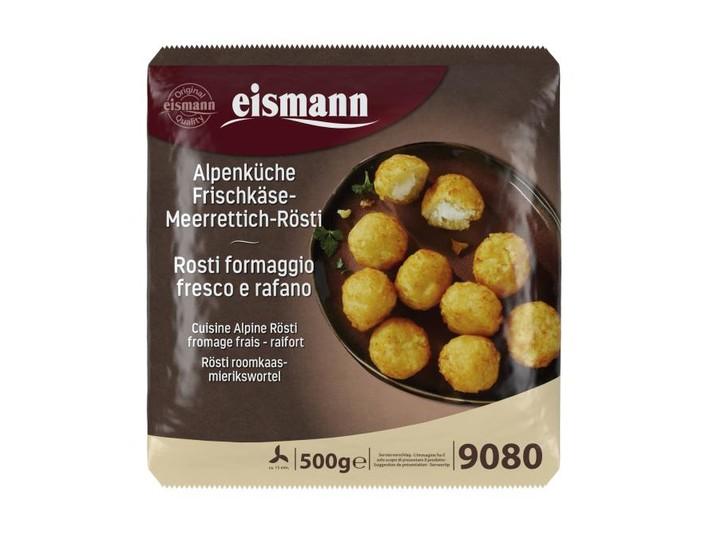 Alpenküche Frischkäse-Meerrettich-Rösti